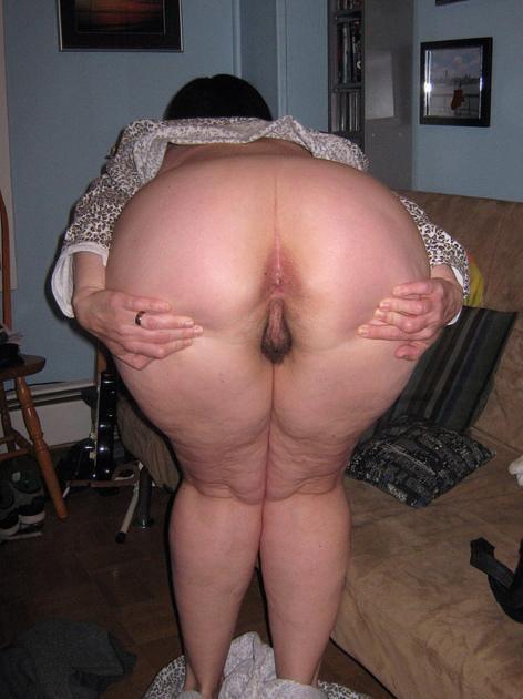 Fat ass anal granny